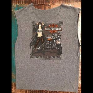 Harley Davidson Ready To Ride Pin-Up Girl T-Shirt
